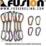 Fusion Climb 6 只装 11 厘米快速抽取套装,带 Techno Zoom 紫色直门登山扣/Techno Zoom 橙色直门钩