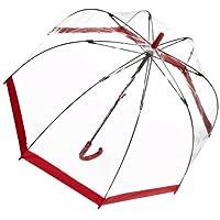 Fulton 富尔顿 皇室御用透明鸟笼伞 红色边  女款