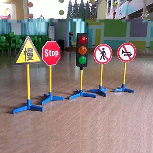 鑫乐林 儿童交通标志牌塑料玩具 幼儿园教学亲子设备红绿灯指示标识