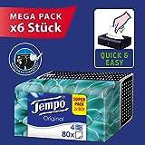 TEMPO 原装 Duo - Box 纸巾,4层 大包装(6 X 2盒 X 80张纸巾)