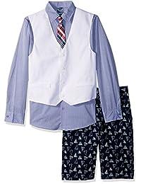 Nautica 男孩图案 four-piece 背心套装加短裤