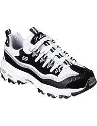 Skechers 斯凯奇* D'LITES系列 女 生活休闲鞋 时尚绑带运动休闲鞋 11914-BKW 黑色/白色 37 (US 7)(亚马逊自营商品, 由供应商配送)