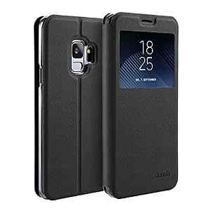 doupi 豪华翻盖三星 Galaxy S9 mit Sichtfenster 黑色