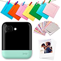 Polaroid POP 2.0-20MP 即时打印数码相机,带 3.97 英寸触摸屏显示,内置 Wi-Fi,1080p 高清视频,Zink Zero 墨水技术,全新应用 - 打印 8.89 x 10.80 厘米经典边框照片