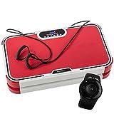 skandika 振动盘 抖抖机 900 Plus 振动盘 -2 个带3D 摇摆震动的强力马达 120 个强度档 蓝牙音乐 训练带+遥控+A1 运动垫