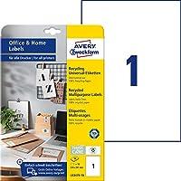 Avery Zweckform 3449-10 藍色標簽(240張貼紙,70x37毫米 DIN A4,自粘彩色標簽,亞光紙張,印花,彩色粘合標簽,非常適合家庭辦公室)10張,藍色