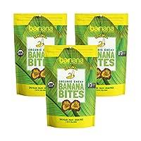 Barnana Organic Chewy Banana Bites, Original, 3.5 Ounce, 3 Count