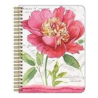 Legacy Publishing 中号螺旋笔记本,6.6 x 8.25 英寸 Medium Spiral Notebook 6.6 x 8.25-Inches Pink Garden Bloom