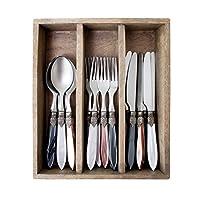 Murano 經典圣誕節混合餐具套裝餐盒,不銹鋼,深灰色/白色/棕色,29.5 x 25.5 x 6.5 cm
