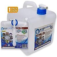 WaterStorageCube,無 BPA 可折疊水容器 帶Spigot,露營儲水袋,適合戶外徒步颶風緊急情況,可折疊便攜式FDA 水壺 1.3/2.6/5.3 加侖