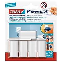 tesa UK Powerstrips 线夹,带可移除胶带 - 每包 5 个线夹