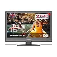 "Ferguson F1620F 16"" 全高清 LED 電視 內置 DVD 播放器,衛星調諧器和 Freeview T2 HD"