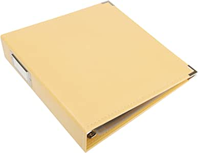 We R Memory Keepers Classic Leather 3-Ring Album - 8.5 x 11 inch, Buttercup