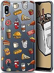 Caseink 三星 Galaxy A10 (6.2) 高清硅胶软壳 - 防震 - 法国印制CRYSPRNTFOODIEA10FASTFOOD  Samsung Galaxy A10 Foodie Fast Food