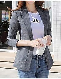 FABEILAI 2018秋冬新款女装韩版修身西服大码复古休闲小西装外套亚麻西装外套女9821