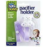 Baby Buddy Bear Pacifier Holder 白色熊 多种 夹子(单色) 【美国制造】 紫丁香