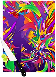 "Kess InHouse Danny Ivan ""Shooting"" Rainbow Purple Cutting Board, 11 by 7.5-Inch"