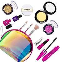 Seckton 11 件装儿童化妆套装,*化妆品套装,小公主玩扮的*个化妆套装,7-12岁幼儿的生日礼物玩具... 激光