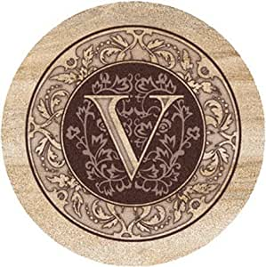 Thirstystone 交织字母砂岩杯垫 V