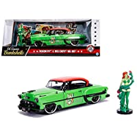 新款 DIECAST 玩具汽车 JADA 1:24 W/B - DC Comics Bombshells - 毒藤女 & 1953 雪佛兰 BEL AIR *带红色* 30455
