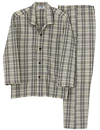 [郡是]男士睡衣 (肩部也是W保暖)长袖长裤软衬/发热针织纱布 男士