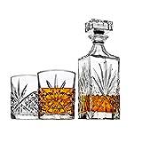 威士忌*器套装适用于Liquor Scotch Bourbon or Wine,包括 2 DOF 猫眼玻璃杯 - 爱尔兰剪裁