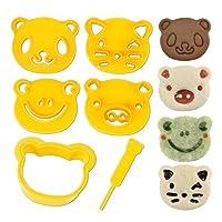 CuteZCute Animal Friends 食物装饰刀具和印章套装