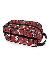 AKIOG 旅行化妆包挂日本樱花树收纳包化妆包专业小化妆包便携式收纳包,适合儿童女士。