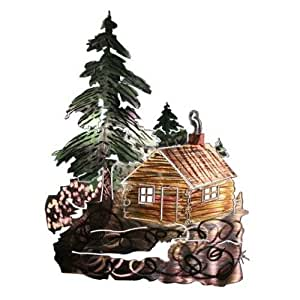 Next Innovations 3D 木屋墙壁艺术 棕色 WA3DCABIN