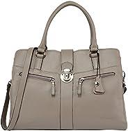 Banuce Women Genuine Leather Hobo Handbags Shoulder Bag Work Tote Crossbody Purse