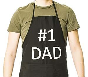 Funny Guy Mugs #1 Dad ApronOne Size, Black