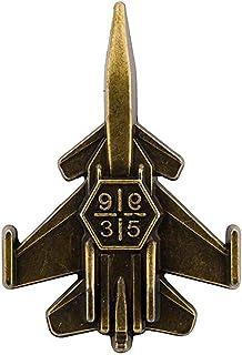 AN KINGPiiN 金属战斗机喷气飞机翻领别针,胸针西装铆钉,衬衫铆钉男士配饰