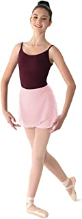 Bloch Mirella 女式乔其纱裹身舞裙,粉色,均码