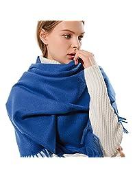 女式厚软羊绒羊毛羊绒披肩围巾 - Aone 保暖披肩