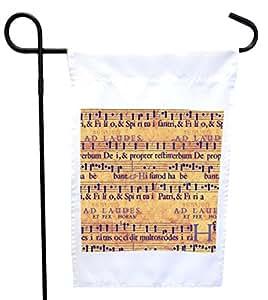 Rikki Knight 摇滚音乐笔记房或花园旗帜,27.94 x 27.94 cm 图片,30.48 x 45.72 cm