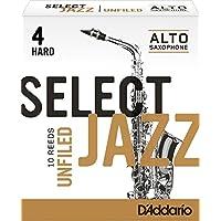 达达里奥Rico Select Jazz 4号硬型未锉光中音萨克斯哨片10片装(RRS10ASX4H)