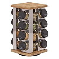 Kamenstein Warner 16-Jar Revolving Spice Rack with Free Spice Refills for 5 Years