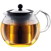 BODUM ASSAM茶压机,过滤器,玻璃手柄,1.5升/ 51盎司) - 闪亮