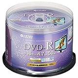 LAZOS DVD-R CPRM录像用 100张 主轴盒 L-C100PW parent4573424240681 50枚