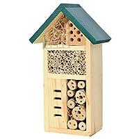dobar 22648e 昆虫旅馆 - 适用于黄金种蜜蜂 - 建好的昆虫屋 - 结实的实木蜜蜂旅馆 - 瓢虫/野生蜜蜂旅馆,小号,15 x 8.5 x 25.5 厘米