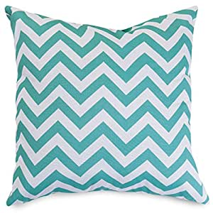 Majestic Home Goods Chevron Pillow, Large, Teal