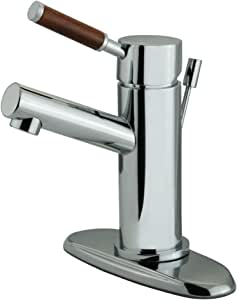Kingston Brass Wellington 4-Inch Lavatory Faucet with Brass Pop-Up and Plate