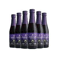 林德曼 进口啤酒 比利时水果啤酒 Lindemans林德曼黑加仑啤酒250mlx6瓶组合