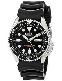 Seiko SKX007J1 模拟日本自动黑色橡胶潜水器手表