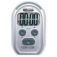 General Tools TI150 三合一厨房计时器 - 适合视力/听力障碍、大众环境和课堂(红闪光灯、大蜂鸣器、振动)