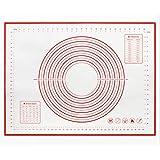 SAYGOGO 硅胶软糖板,烘焙垫,硅胶烘焙垫,厚实防滑板,含滚动面,软糖,饼干,2个装,红色