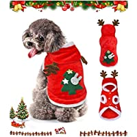 Pawerica 圣诞服饰,适合中小型犬,圣诞连帽衫,适合中小型犬,圣诞连帽衫,狗狗和猫咪的温暖圣诞服装 XL
