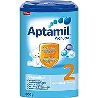 Aptamil 爱他美 2段婴幼儿奶粉 Pronutra亲源配方 适合6个月以上婴幼儿 4盒装 (4 x 800 g)