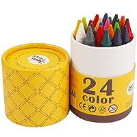 Joan Miro 美乐 儿童可水洗蜡笔 24色粗杆可水洗幼儿大蜡笔防摔画笔 JM08329