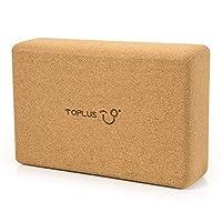 TOPLUS 瑜伽砖 – 天然软木瑜伽砖,防滑表面高*瑜伽泡沫块,适用于锻炼瑜伽、普拉提和冥想